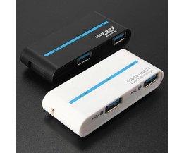 USB-Hub Mit 4 Ports