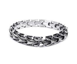 Snake Armband Edelstahl
