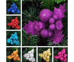 Funkeln-Dekoration Für Einen Weihnachtsbaum In Mehreren Farben
