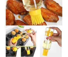 Gelb Ölflasche Mit Silikonpinsel