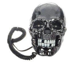 Schwarz-Schädel-Telefon
