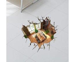 Dekorative 3D Fußboden-Aufkleber PVC