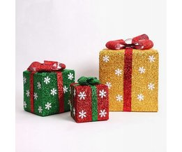Geschenk-Kasten Mit LED-Leuchten In Verschiedenen Farben Und Größen