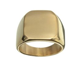Tough Goldfarbener Ring Of Titan / Stahl Für Männer