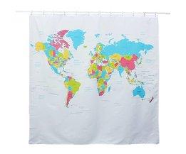 Wasserdichten Duschvorhang Mit Weltkarte Drucken