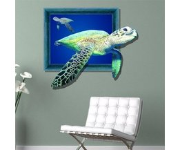 PAG 3D Turtle Wandtattoo