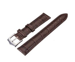 Hohe Qualität Brown PU-Leder-Uhrenarmband