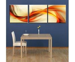 3-Teiliges Gemälde Auf Leinwand