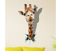 PAG 3D Wandaufkleber Mit Einer Giraffe
