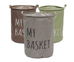 Faltbare Wäschekorb Mit Baumwolle Und Leinen