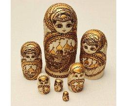 7-Teiliges Holz Matrjoschka-Puppe