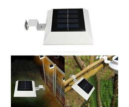 Zaun-Lampe Mit Sonnenkollektoren