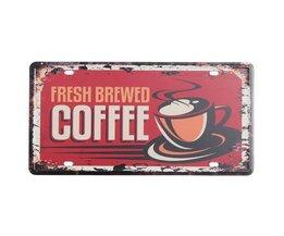 Metall Werbung Kaffee