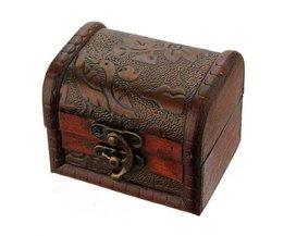 Holz Schmuck-Box