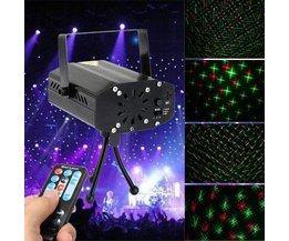Mit Laserlicht-Projektor