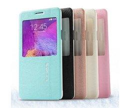 Leder-Kasten Für Samsung Galaxy Note 4