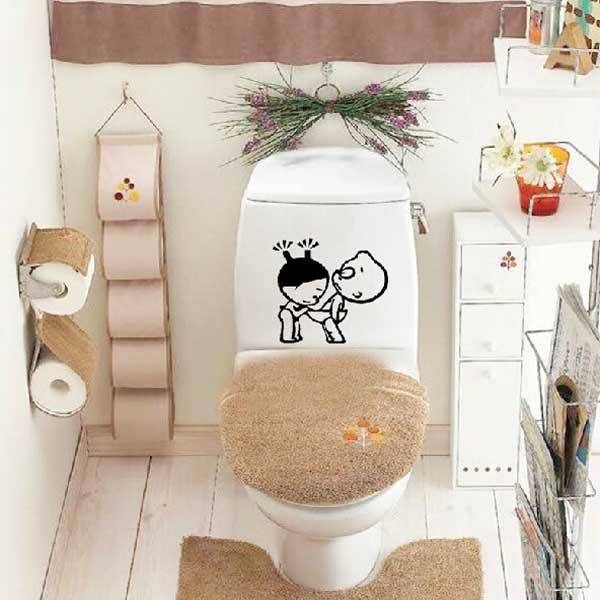 Lustige Aufkleber Für Die Im Badezimmer