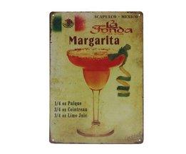Metal Plate Margarita