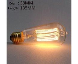 Edison-Glühlampe E27 ST58