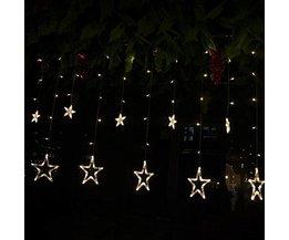 LED-Stern-Vorhang Als Dekoration Für Weihnachten Oder Hochzeit