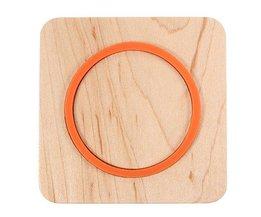 Wireless-Ladegerät Aus Holz Für Smartphones