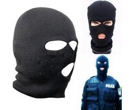 Schwarz Ski-Maske