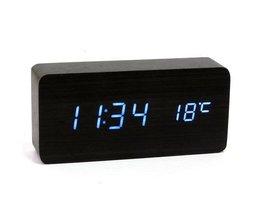 USB / AAA Holz Digital Clock