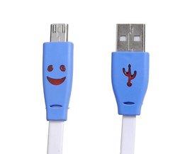 Flache USB-Kabel Mit Licht Und Smiley