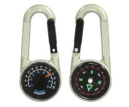 Mini-Kompass Und Thermometer Keychain