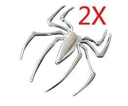 Dekorative Silber Spinne 3D-Auto-Aufkleber