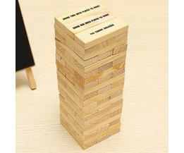 Holz Jenga Spiel