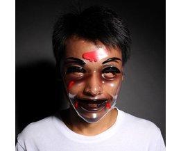 Transparente Halloween-Maske