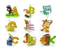 3D-Buchstaben-Puzzle Mit Tieren