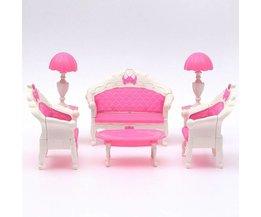 Rosa Puppenhaus Wohnzimmer-Möbel