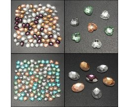Nagel-Dekoration Steine Herz Und Ovale, Aus