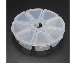 Runde Kunststoff-Aufbewahrungsbehälter Mit 8 Boxen