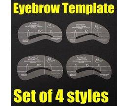 Vorlage To Give Augenbraue Form (4 Stück)