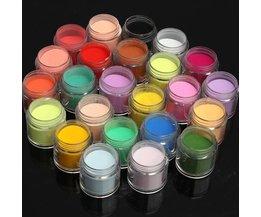 24 Farben-Acrylpuder Für Nagel-Kunst