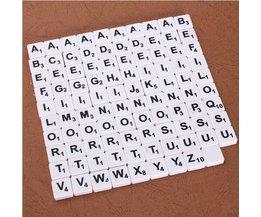 Set Von 100 Scrabblezeichen