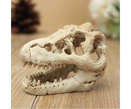 Ornament Aquarium Krokodil Skelett