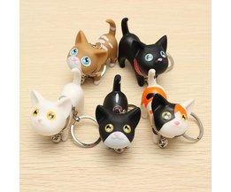 Schlüsselanhänger Mit Nette Katze