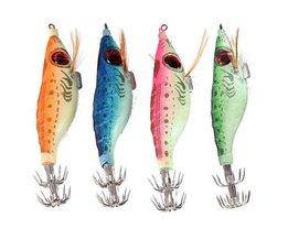 Fluoreszierende Tintenfisch-Köder Mit Haken