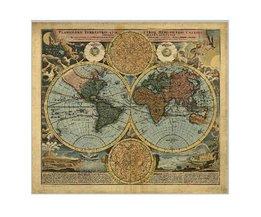 Plakat Alte Weltkarte