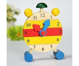 Hölzerne Uhr Für Das Lernen Telling