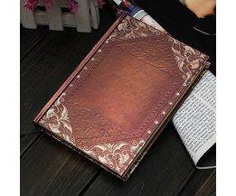 Weinlese-Goldene Notizbuch