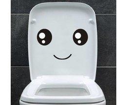 WC-Aufkleber Smiley