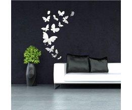 14 Wand-Aufkleber Mit Schmetterlingen