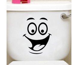 Toilette Mit Funny Face Dekorieren
