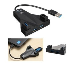 Compact 4-Port USB 3.0 Hub