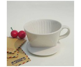 Kaffeefilterhalter Keramik Weiß